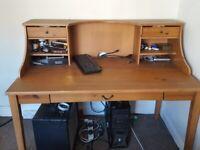 Large Mahogany Wooden Desk