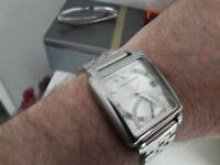 Mens Armani watch +box genuine and in good condition/new battery £40
