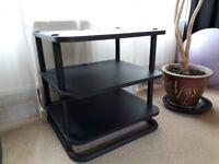 HI-FI stereo table, three shelves, black