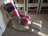 Mothercare Reclining Glider Chair with Foot Stool