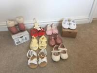 Baby girl shoes - 8 pairs 6-12 months