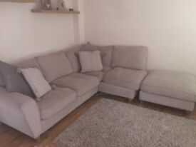 Corner sofa with chaise excellent condition