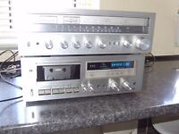 PIONEER STEREO CASSETTE TAPE DECK CT-650. AND JVC R-S7 STEREO RECEIVER.