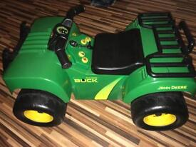 John deer ride on tractor outdoor toy with sounds great condition £10 Romiley