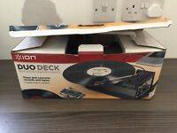 Ion duo deck usb turntable