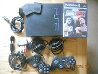 Sony Playstation PS2 console and controllers
