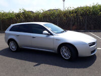 2010(60)ALFA ROMEO 159 LUSSO SPORTWAGON 2.0 JTDM 170BHP MET SILVER,LOW MILES,6 SPEED,LOVELY CAR