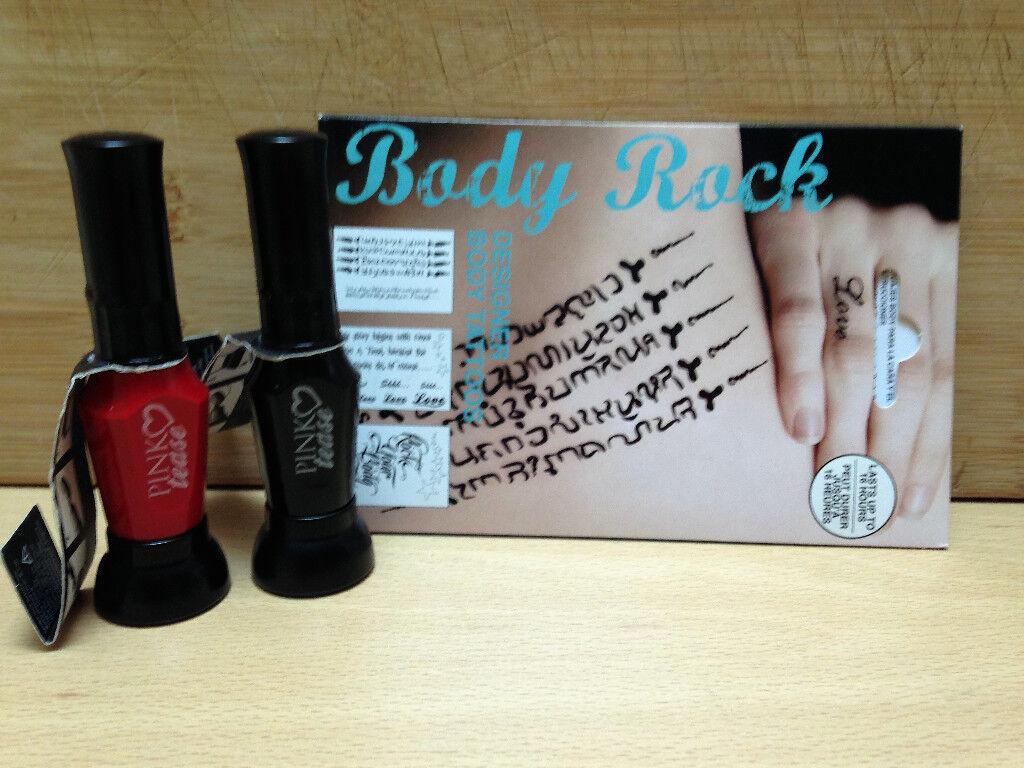 Pink Tease Nail Art and Tattoos bundle