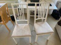 2x chairs IKEA BÖRJE white