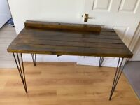 Desk / Table with Hairpin Legs