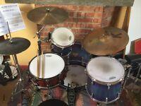 Pearl Masters Custom Drum Kit + Cases