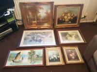 Variety of pictures and frames