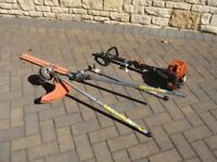 STIHL FS85T Long-reach Hedge Trimmer, extra extension, plus strimmer