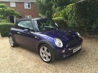 NEW MOT AND LOW MILEAGE Mini Cooper Convertible with sport interior and extras