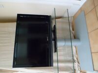 "Sony Bravia 32"" Television With Designer TTap Glass TV Stand"
