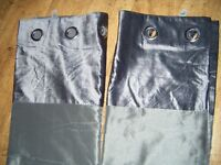 """NEXT SILVER GREY CURTAINS 66"""" WIDE X 72"""" LONG"""
