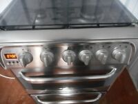 "CANNON""KESWICK""DOUBLE OVEN ALL GAS COOKER**S/STEEL**"