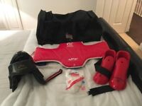 Martial Arts Training Bag and Accessories