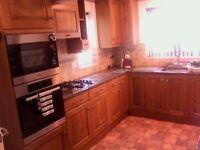 Kitchen units real oak doors, granite worktops, sinks and taps