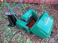 Qualcast Electric 30. lawnmower. inc scarifier cassette.