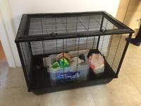 Large Hamster Cage Black