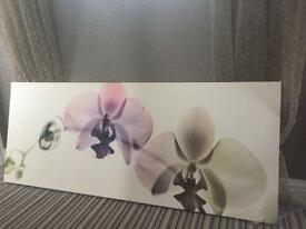 Large Orchid Canvas Wallhanging