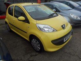peugeot 107 urban 1.0 ltr 5dr 2007 model 63,000 miles,mot sept,,service history,£30 road tax,2 keys