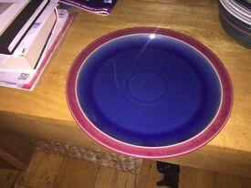 Denby dinner plate red & blue