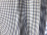 Blue/white check curtains laura ashley material