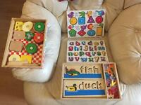 Melissa & Doug quality wooden Toy Collection