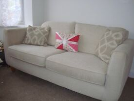 Bargain ... £130 - 3 Seater Settee / 1 Chair / 1 Foot Stool with Storage