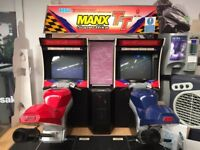 sega manx superbike TT isle of man twin 1995 classic arcade machine red/blue