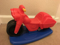 Little Tikes Motor Bike and rocker - excellent condition with new stickers!