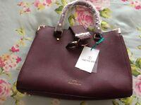 Avon burgundy handbag