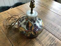 Moorcroft Pottery Lamp