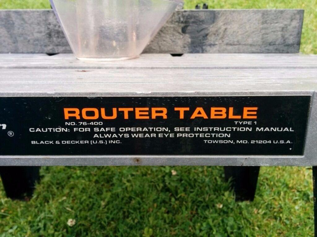 Black Decker Router Table