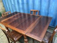 Oak extending dining table and 4 chairs FREE DELIVERY PLYMOUTH AREA
