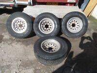 Mitsubish L200 Shogun Pajero Ford Ranger Toyota Hilux 6 stud Alloys With Tyres 265 /70 / 16