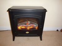 Dimplex log effect electric fire in good condition