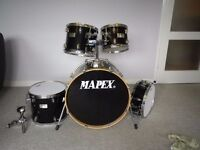 Mapex V Series Fusion Drum kit with clamps and Brand new Evans skins
