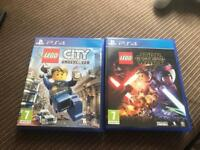 Lego City Undercover and Lego Star Wars Force Awakens PS4