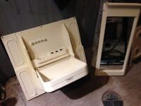 Folding sink and vanity unit, used.
