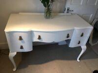 Vintage Buffet Dresser Sideboard Desk French Style Antique Ivory Chalk Paint