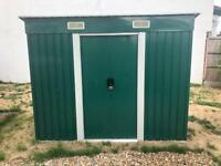 Brand new metal garden shed