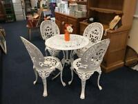 Cast Metal Garden Bistro Set