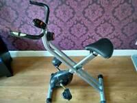 V fit folding exercise bike