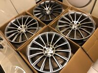 "4 x NEW 19"" MERCEDES C CLASS ALLOY WHEELS 5x112 5 112 POLISHED MERCEDES W203 W204 C CLASS"