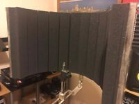 LD Systems RF1 Microphone Screen Vocal Booth + Stagg Mic Stand