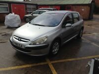 2001 Peugeot 307 1.6 good engine/gearbox/new parts