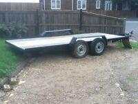 twin wheel low loader trailor